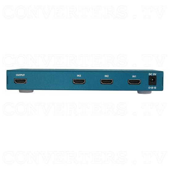 HDMI Switch 3 input - 1 output Slimline - Back View