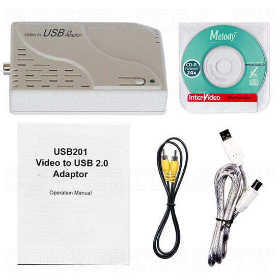 Video to USB 2.0 Adapter (USB201) - Full Kit