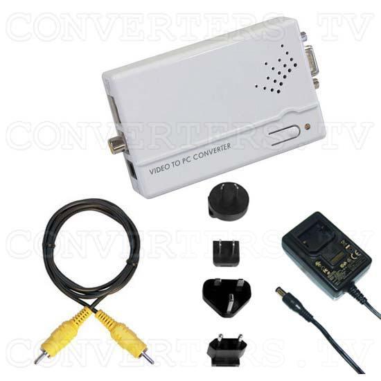 PAL-NTSC Video to WXGA Scaler Converter - Full Kit