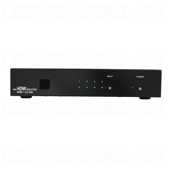 HDMI Switch 4 input - 2 output - Front View