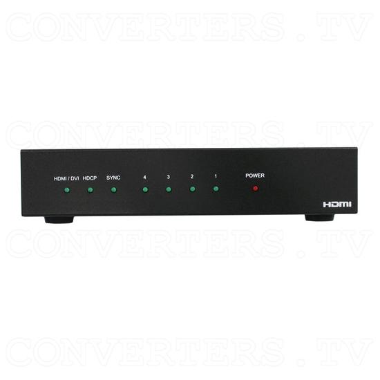 HDMI Splitter-Extender 1 input - 4 output - Front View