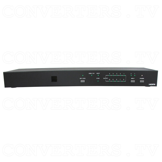 HDMI Switch 2 input - 10 output - Front View