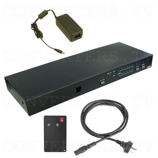 HDMI Switch 2 input - 10 output - Full Kit