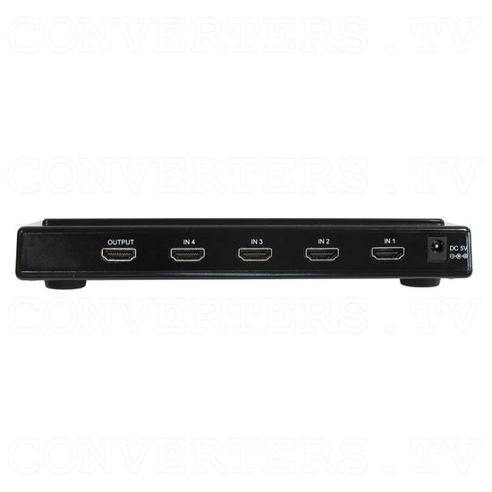 HDMI Switch 4 input - 1 output Non-Metallic - Back View