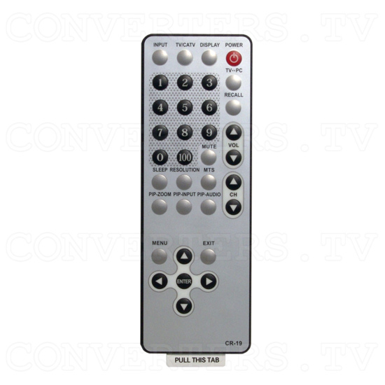 PAL to XGA PC TUNER BOX (CM-345T) - Remote control
