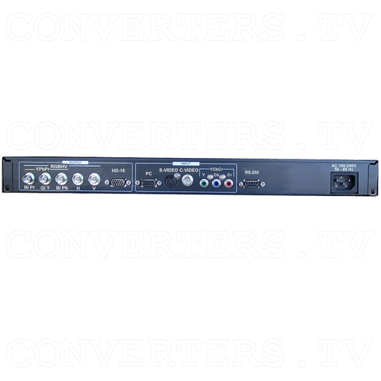 Professional Video Scaler (CSC-1600HD) - Back View