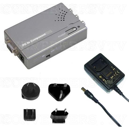VGA to 480i-576i Y-Cb-Cr Component Converter - Full Kit