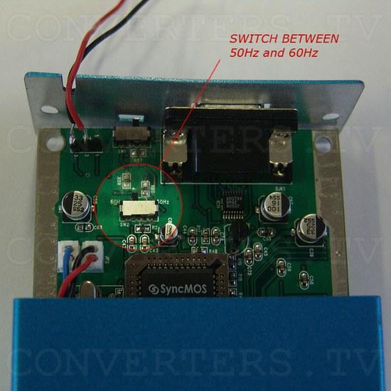 Car Navigation Screen Dual Video PAL NTSC to RGB Converter - Internal Switch - 50HZ to 60Hz