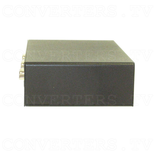 PC HD Component Distributor 1 input : 3 output w/ Stereo Audio - Side View