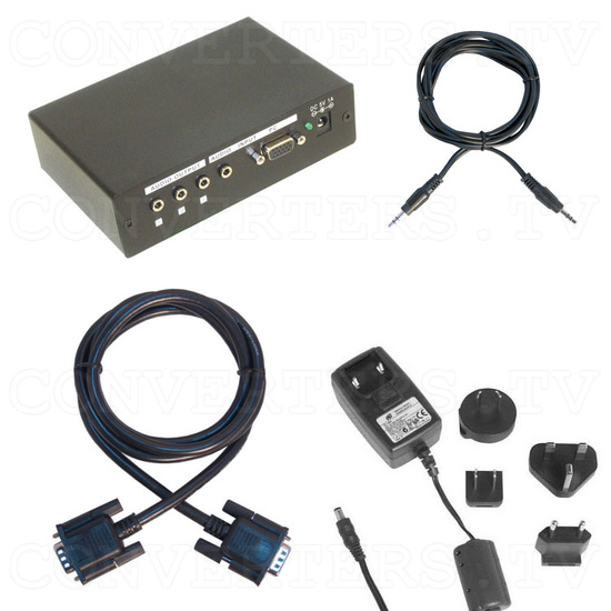 PC HD Component Distributor 1 input : 3 output w/ Stereo Audio - Full Kit