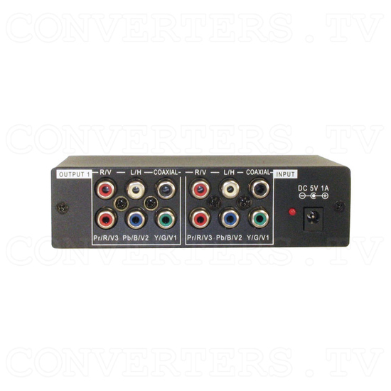 HD-SD Distributor 1 input : 3 output w/Digital & Analog Audio - Back View