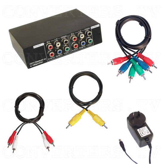 HD-SD Distributor 1 input : 3 output w/Digital & Analog Audio - Full Kit