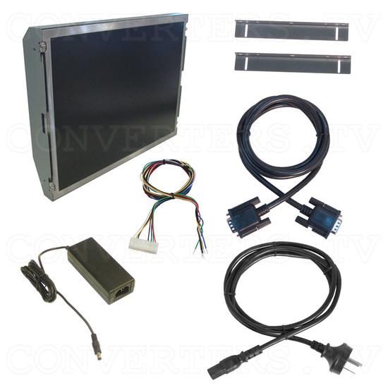 15 Inch CGA EGA VGA to XGA Wide Viewing-Angle LCD Monitor - Full Kit