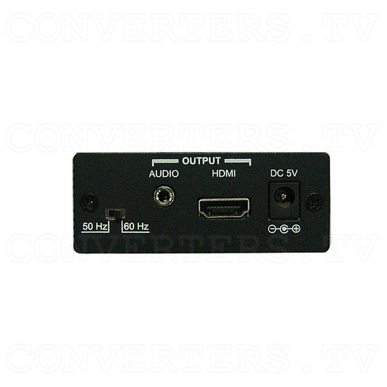 Video / S-Video to HDMI Scaler Box - Back View