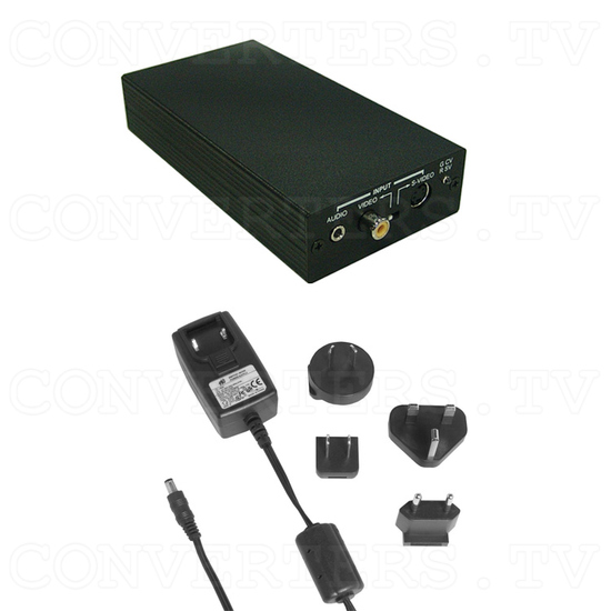 Video / S-Video to HDMI Scaler Box - Full Kit