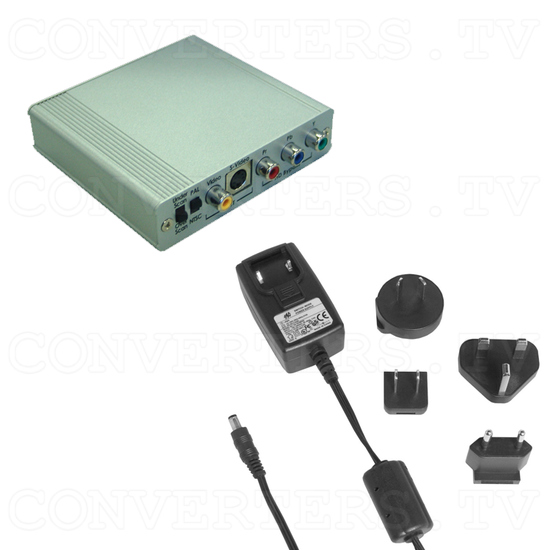 Component HD YPbPr to Video Down Scaler w/HD pass through - Full Kit