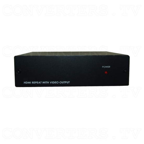 HDMI to Video CV/SV Downscaler - with HDMI pass-thru - Front View