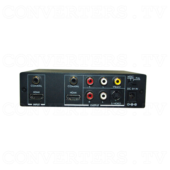 HDMI to Video CV/SV Downscaler - with HDMI pass-thru - Back View