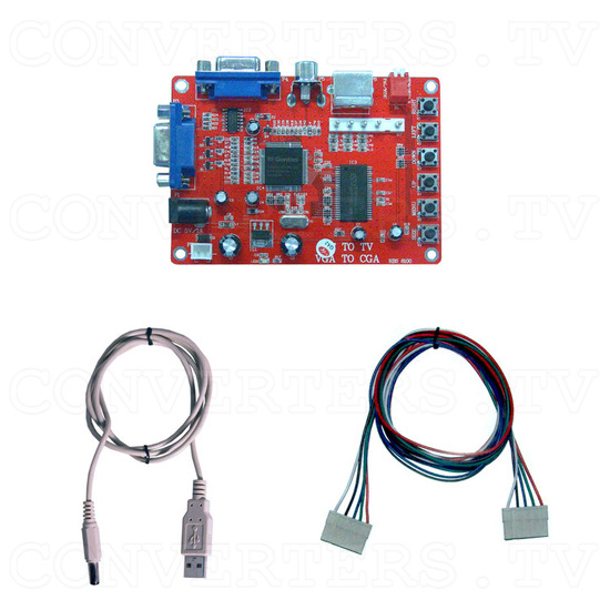 VGA to CGA (PC to TV) Converter - Full Kit