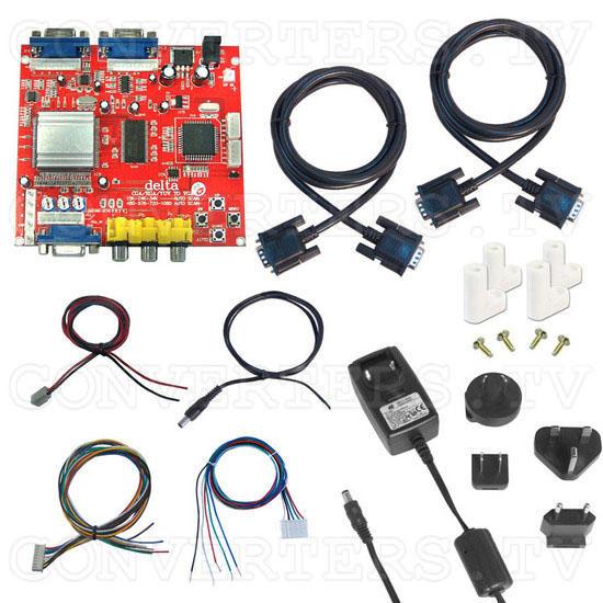 RGB - CGA, EGA, HD to VGA Converter - Full Kit