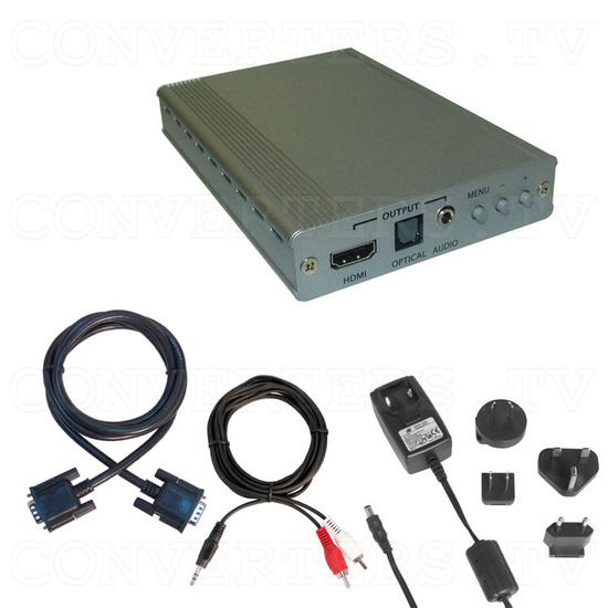 PC to HDMI 1080p Scaler Box - Full Kit