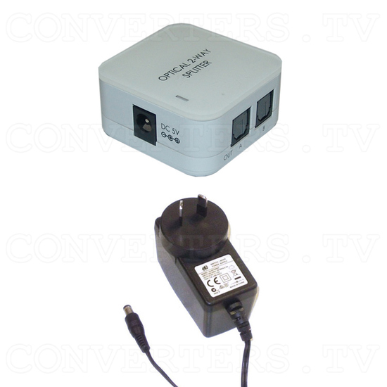 Toslink Splitter 1input - 2output - Full Kit
