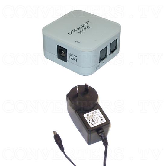 Toslink Splitter 1input - 2output - Full Kit