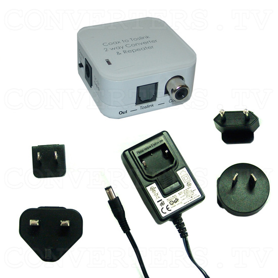CO-AX Toslink 2 Way Converter - Full Kit