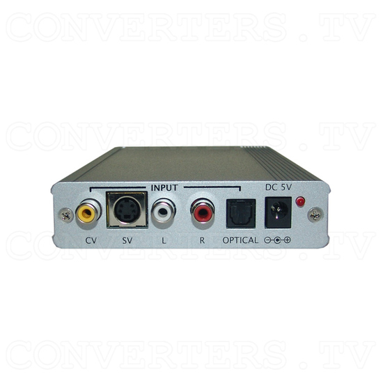 CV/SV to HDMI 1080p Scaler Box - Back View
