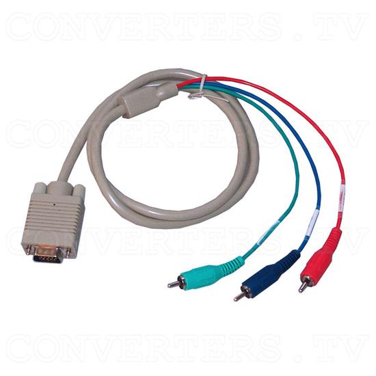 PC-HD to PC-HD Scaler w/PC-HD pass-thru - VGA to 3 RCA