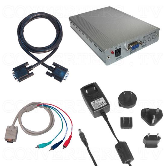 PC-HD to PC-HD Scaler w/PC-HD pass-thru - Full Kit