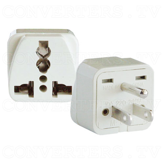 Universal Grounded Wall Outlet Adapter Plug - USA / Canada / Japan - 1