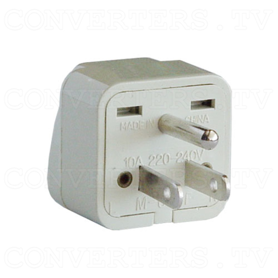 Universal Grounded Wall Outlet Adapter Plug - USA / Canada / Japan - 3
