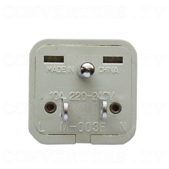 Universal Grounded Wall Outlet Adapter Plug - USA / Canada / Japan - 5