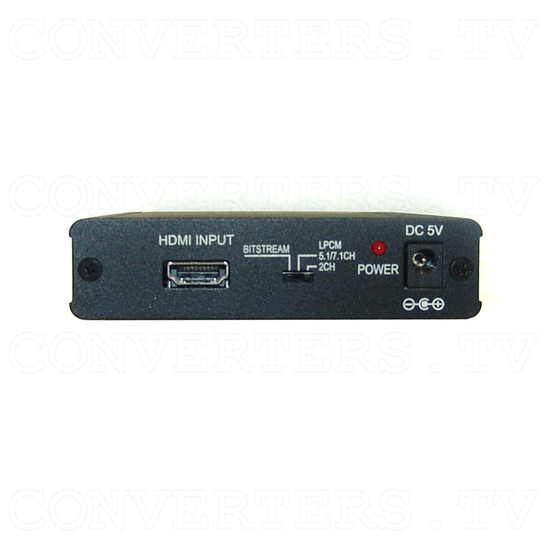 HDMI Repeater 1 In 1 Out with Audio Decoder - Back View