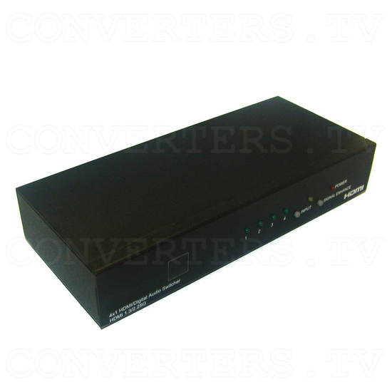 HDMI v1.3 Video and Digital Audio Selector 4in:1out - Full View