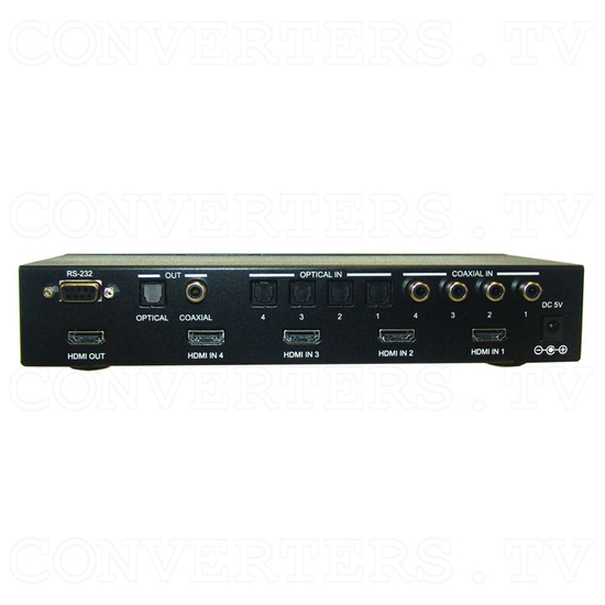 HDMI v1.3 Video and Digital Audio Selector 4in:1out - Back View