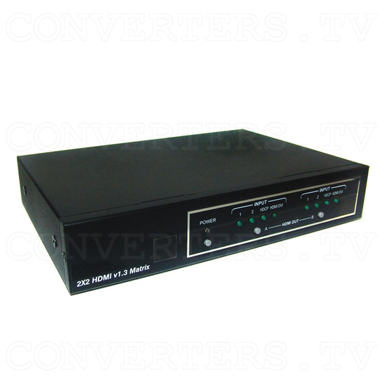 HDMI v1.3 2 In 2 Out Matrix Selector - Full View
