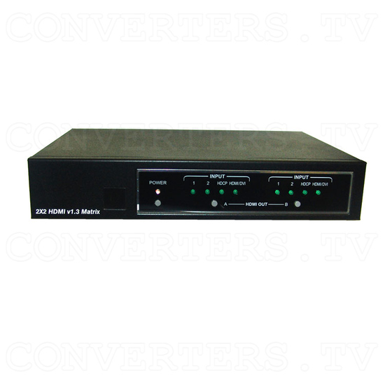 HDMI v1.3 2 In 2 Out Matrix Selector - Front View