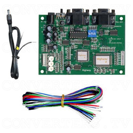 CGA to VGA Converter - LCD Suitable - Full Kit