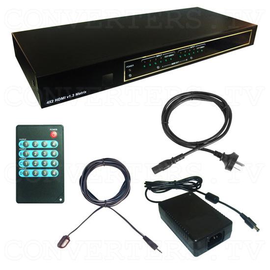 HDMI v1.3 4 In 2 Out Matrix - Full Kit