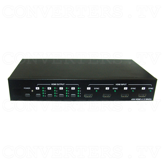 HDMI v1.3 4 In 4 Out Matrix Selector - Front View