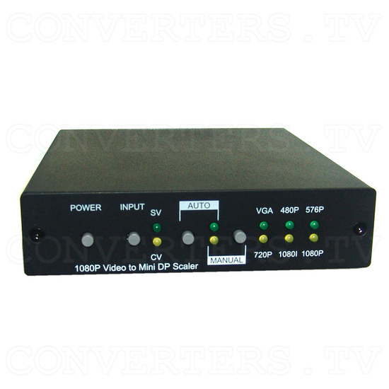 Video to Full HD Mini Display Port Scaler - Front View