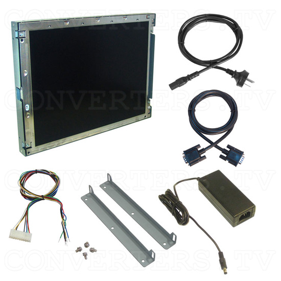 15 Inch CGA EGA VGA to XGA Wide Viewing-Angle LCD Monitor - Full Kit