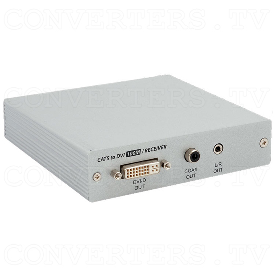 DVI Over CAT5 Receiver Box - 100 meters - Full View