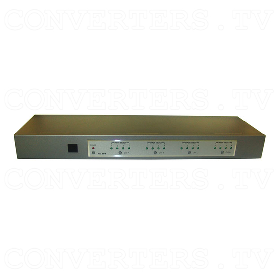 Component 4 In 4 Out Matrix with Digital and Analog Audio - Front View