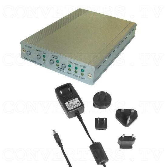 PAL/NTSC Video to HDMI v1.3 HD Scaler Box - Full Kit