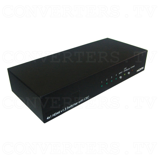 HDMI v1.3 4 In 1 Out Switcher with CEC - Full View