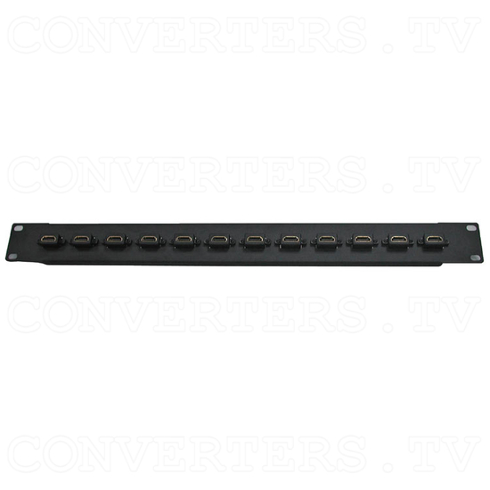 HDMI 12 Way Female to Female Patch Panel - Full View