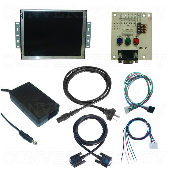 12.1 Inch Delta CGA EGA Multi-frequency to SVGA LCD Panel - Full Kit